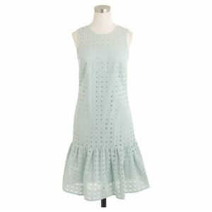 J.Crew Anna Dress in organza Eyelet